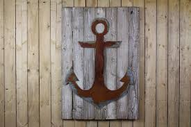 wood anchor wall decor