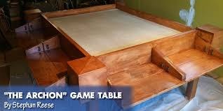 Wooden Game Table Plans Coolest DIY Gaming Tables Webb Pickersgill 6