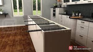 island support bracket countertop granite and metal support brackets for granite countertops