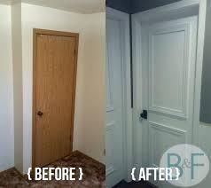 stunning wondrous hollow core door makeover with paint painting oak trim white doors honey