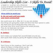 List Of Leadership Skills For Resume. Examples Of Leadership Skills ...