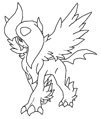 Small Picture Eevee Evolution Coloring Pages