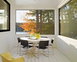 lake cabin furniture. Magnificent Lake House Designed By Brian Mac : Round Dining Table Cool  Acrylic Chairs Glass Bay Lake Cabin Furniture A