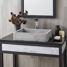 Nipomo Rectangular Concrete Bathroom Sink Native Trails