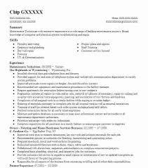 cherry creek resume service maintenance technician cherry creek resume  service cost