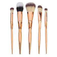 5pcs soft makeup brushes set kit golden cosmetics tools eye shadow lip blending blush brush cod