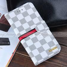 Iphone 6 Plus Cases Designs Luxury Designer Plaid Leather Wallet Cases For Apple Iphone