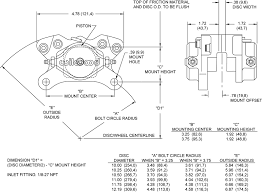 Brake Caliper Piston Size Chart Wilwood 120 4062 Dynalite Single Caliper Billet 2 Piston