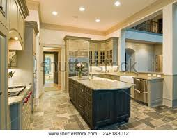 slate floor kitchen. Expensive Kitchen Interior With Granite Counters And Slate Floor
