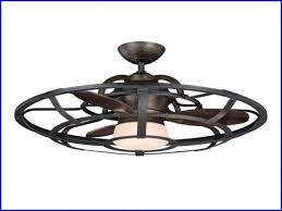 Flush Mount Enclosed Ceiling Fan With Light Design Hdsocietyinfo