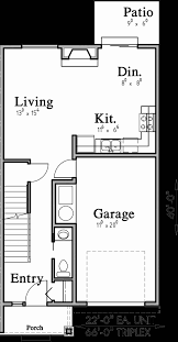 narrow lot house plans with front garage new triplex plans with basement row house plans open