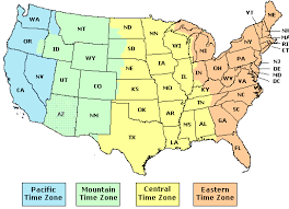 Pacific Time Zone Time Zones Usa Us States And Timezones