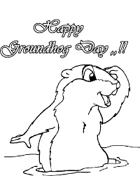 Groundhog Day Coloring Pages Free Printable Many Interesting Cliparts