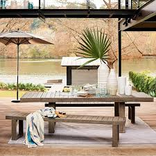 outdoor furniture west elm. West Elm Portside Expandable Dining Table Weathered Gray Cafe Home Outdoor Furniture Sale L