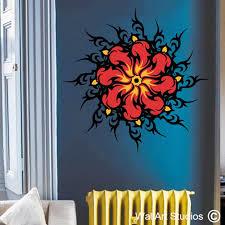 tribal flame mandala wall art stickers