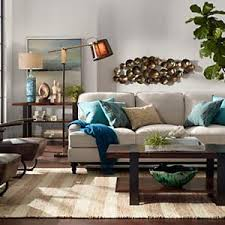 Lighting design for living room False Ceiling Pops Of Blue Add Color To This Midcentury Styled Living Room Home Depot Living Room Design Ideas Room Inspiration Lamps Plus