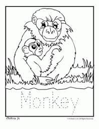baby zoo animals coloring pages. Zoo Animal Coloring Pages Baby Monkey Throughout Animals