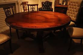 72 inch round dining table wood