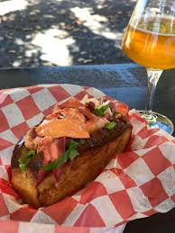I ate] Maine lobster roll and VT beer ...