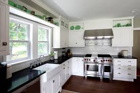 Kitchen Remodel White Cabinets Black Countertops Creative Home