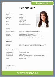 6 Lebenslauf F R Ausbildung Business Template