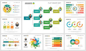 Strategy Presentation Colorful Strategy Charts Set For Presentation Slide Templates