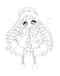 Kawaii Chibi Girl Coloring Pages Page Cute New Witch Anime Gi