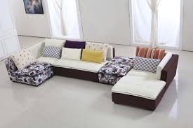 Furniture : Double Sofa With White And Golden Brown Colors With ...