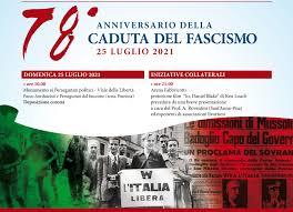 Le iniziative di domenica 25 luglio per il 78° anniversario della Caduta  del fascismo   Città di Livorno