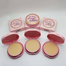 too face makeup faced natural love duo palette snow bunny concealer powder cosmetics kit