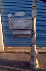 aluminum mailbox post. Cast Iron Mailbox Post Aluminum