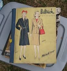 two 1940s sewing pattern counter books