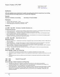 Sample Resume Format In Canada Best Of Nice Accounting Resume