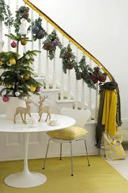Christmas Decorations For Banisters : Christmas decorating ideas banister  trees fairy lights