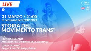Milano Pride - TDOV 2021 - Storia del Movimento Trans*