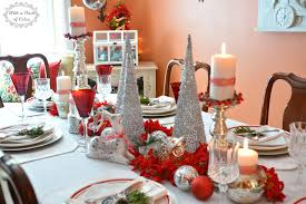 the silver cone trees also from jo ann and the tall mercury glass candle holders add wonderful height to my centerpiece