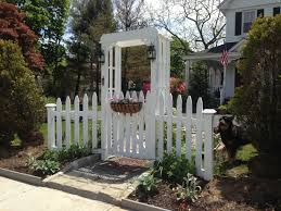 picket fence gate with arbor. White Picket Fence Garden Gate And Arbor With I
