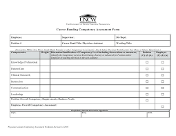 Assessment Form Performance Competencies Evaluation Look On Employee ...