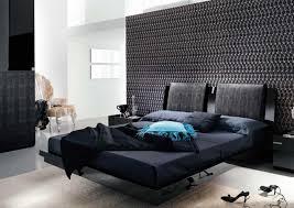 Bedroom:Stylish Black Bedroom Decor With Mosaic Wallpaper Stylish Bedroom  Decor With Nature Ambience