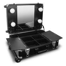 gladking cosmetics mini studio studio to go makeup case with trolley