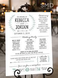 Fun Wedding Programs Rustic Wedding Ceremony Program Modern Fun Wedding