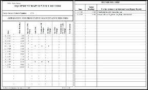 Equipment Service Log Template Service Log Book Template