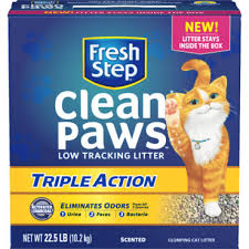 image cat litter. Fresh Step Clean Paws Multi-Cat Febreze Scented Clumping Granular Cat Litter Image Cat Litter