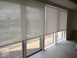 blinds motorized patio door sunscreen roller floor to ceiling windows sliding doors londonl 6b