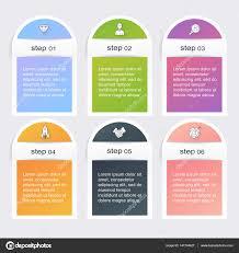 Trendy Infographics Templates Stock Vector
