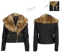 river island faux fur collar biker jacket 2