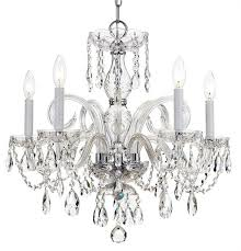crystorama traditional crystal5 light swarovski strass crystal chrome chandelier i