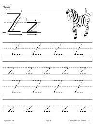 Z sound handwriting alphabet worksheets. Printable Letter Z Tracing Worksheet Supplyme