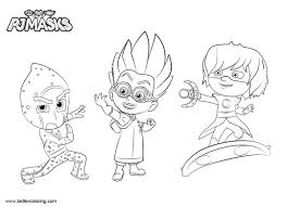 Pj Masks Coloring Pages Luna Girl Romeo And Night Ninja Free