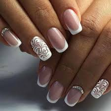 Elegant French Manicure Designs Beautiful Elegant French Manicure Bridal Nails Designs